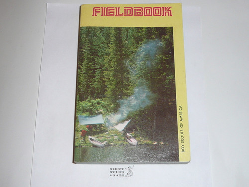 1975 Boy Scout Field Book, Second Edition, January 1975 Printing, MINT condition but name written in a few places