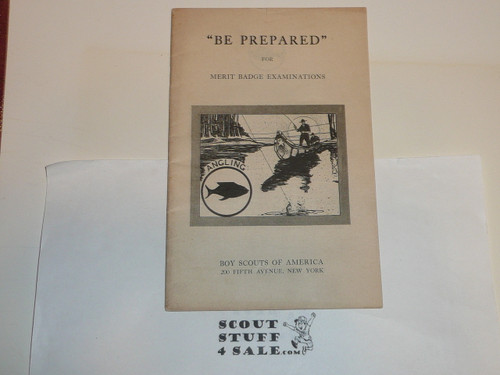 Angling Merit Badge Pamphlet, Type 1, White Cover, MINT condition