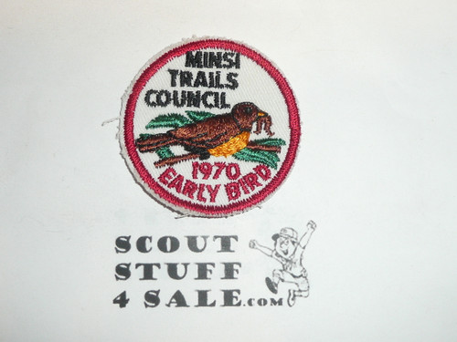 Minsi Trails Council 1970 Early Bird Patch
