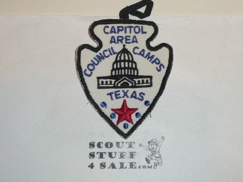 Capitol Area Council Scout Camps c/e Twill Patch, loop part of patch