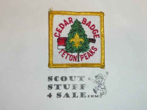 Teton Peaks Council Cedar Badge Patch