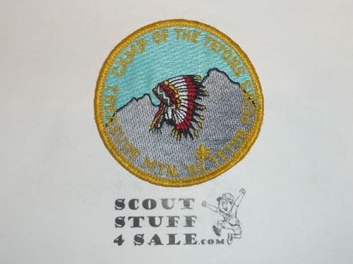 Camp of the Tetons Treasure Mountain 1985 Patch, Teton Peaks Council