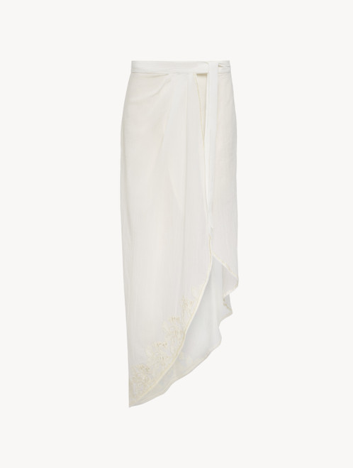Sarong in off-white cotton - ONLINE EXCLUSIVE