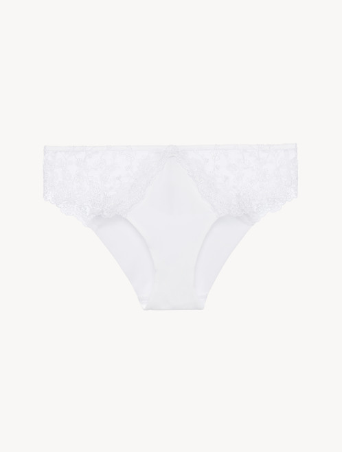 Medium Brief in white tulle and Lycra
