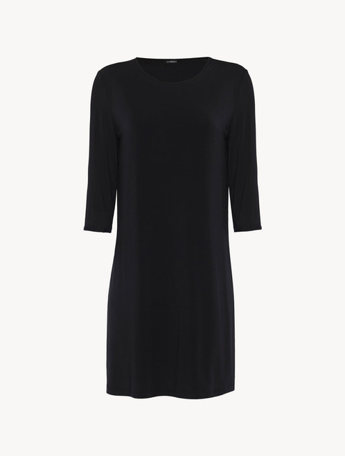 Nightgown in black modal silk jersey
