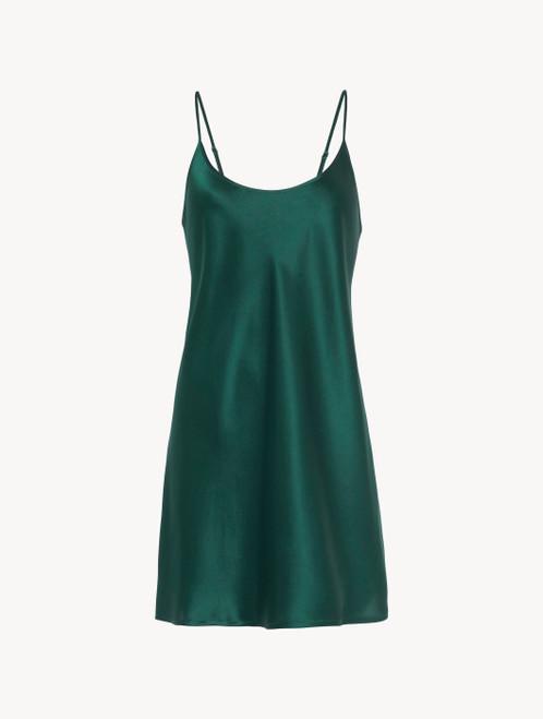 Silk slip dress in emerald - ONLINE EXCLUSIVE