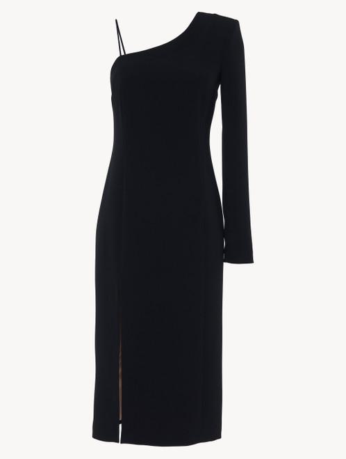 Dress in black Italian silk