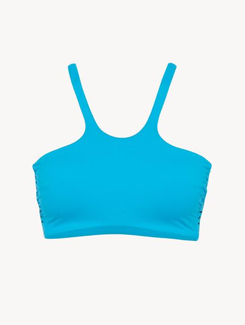 Unpadded bikini top in turquoise - ONLINE EXCLUSIVE