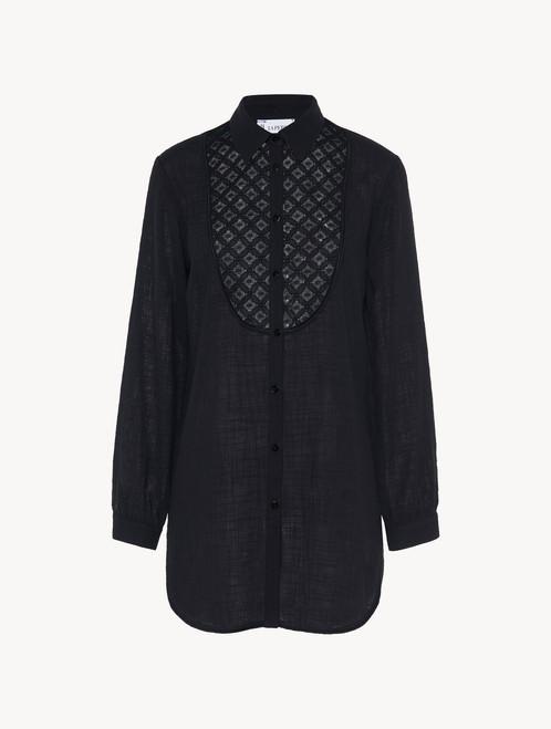 Black cotton shirt - ONLINE EXCLUSIVE