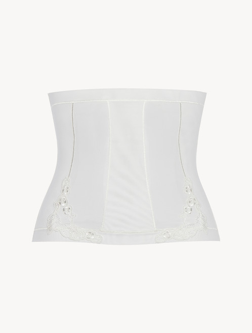 Corset in off-white stretch tulle - ONLINE EXCLUSIVE