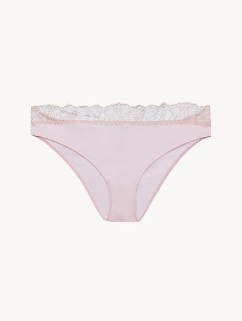 Lace medium brief in pink - ONLINE EXCLUSIVE