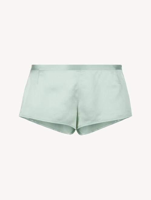 Mint green silk sleep shorts - ONLINE EXCLUSIVE