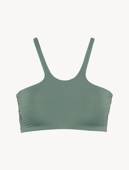 Unpadded bikini top in khaki green