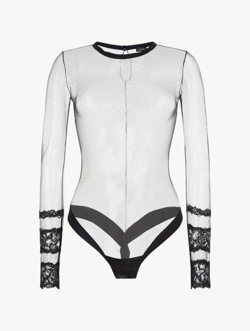 Black long-sleeved bodysuit