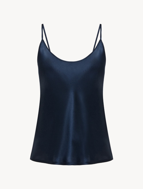 Camisole in navy blue silk