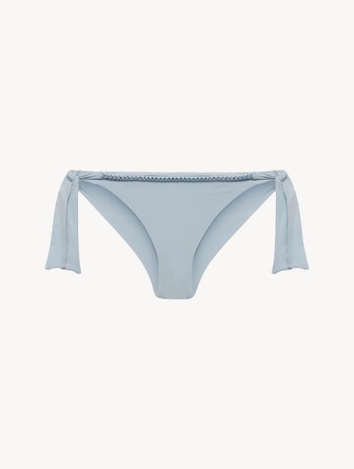 Ribbon Bikini Briefs in azure blue