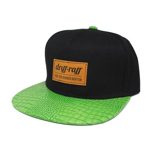 Black with Green Gator Bill