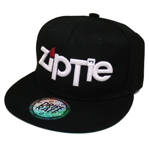 Black Ziptie Snapback