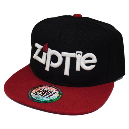 Ziptie Black / Red Snapback