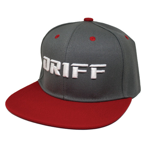 Gray and Red DRIFF Snapback