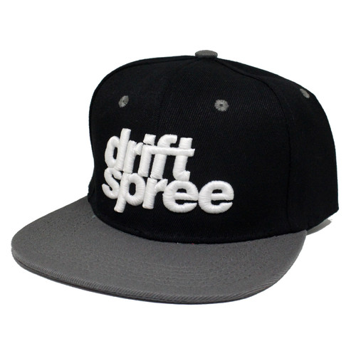 Black and Gray Drift Spree Snapback