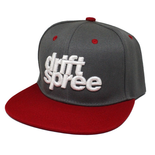 Gray and Red Drift Spree Snapback