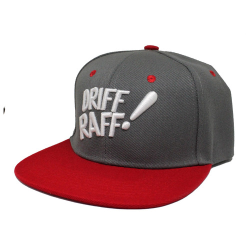 Driff•Raff! Red and Gray Snapback