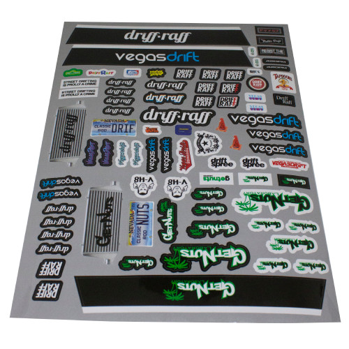 Driff•Raff RC Sticker Sheet