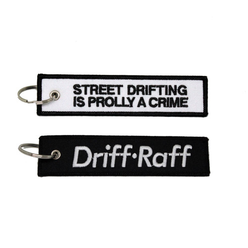 Street Drifting is Prolly a Crime White Key Chain
