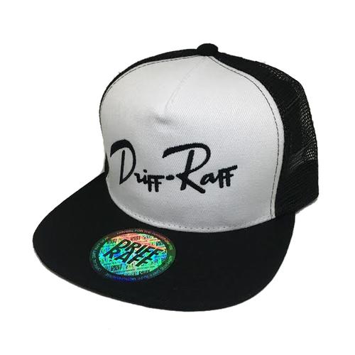 White and Black Driff•Raff Trucker (side)