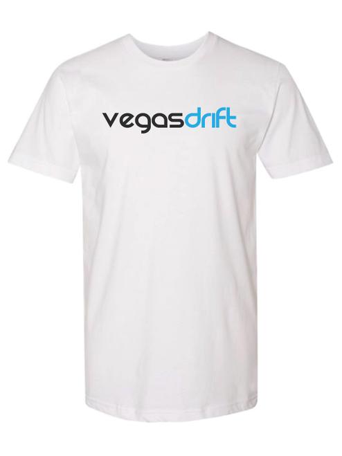 White T-Shirt with Vegasdrift Logo