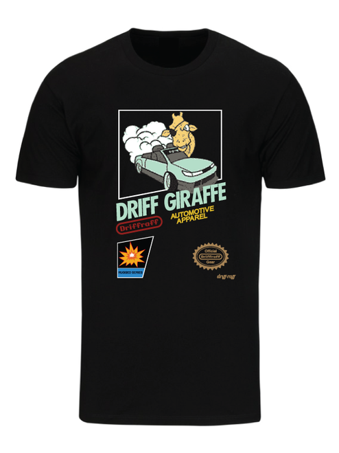 Driff Giraffe '87 Black T-Shirt by Driff Raff