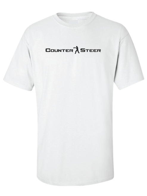 Counter Steer T-Shirt White by Driff Raff