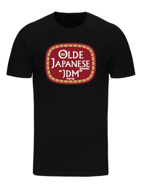 Ol' JDM Black T-Shirt by Driff Raff