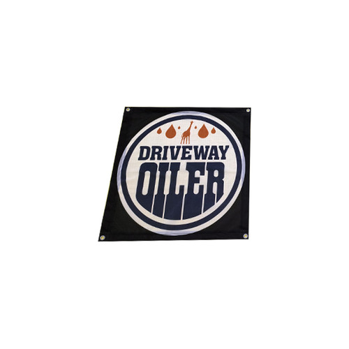 The Driveway Oiler Shop Flag Banner (24in X 24in)