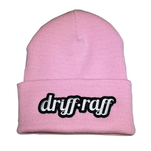 Classic Pink Beanie with Cuff | By Driff Raff