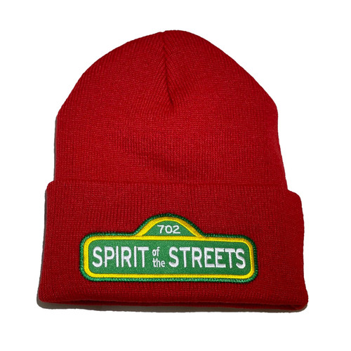 Red Spirit of the Streets Beanie   By Driff Raff