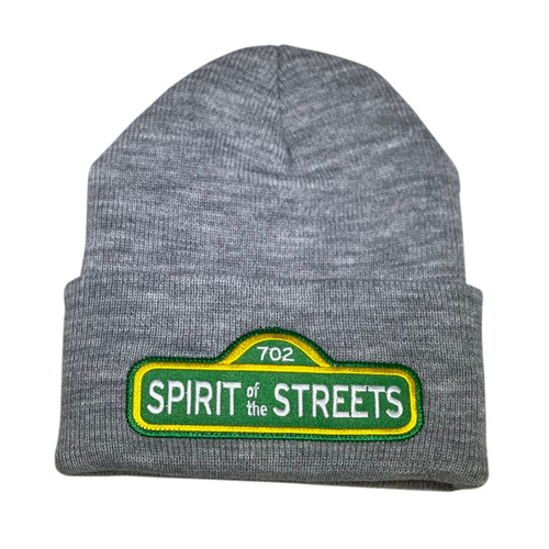 Heather Grey Spirit of the Streets Beanie | By Driff Raff