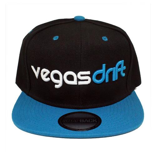 Vegasdrift Black and Teal Snapback Front