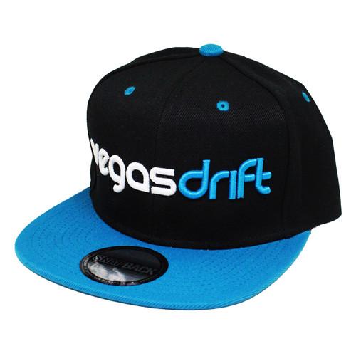 Vegasdrift Black and Teal Snapback Side