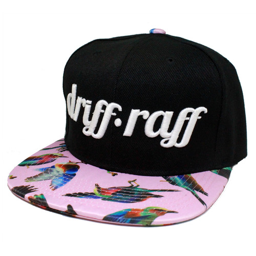 Black and Pink with Birds Snapback | by Driff•Raff