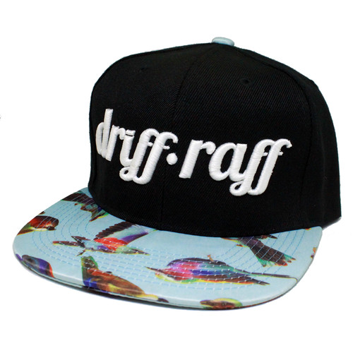 Black and Blue with Birds Snapback | by Driff•Raff