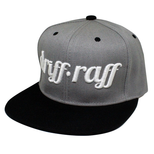 Gray and Black Snapback | by Driff•Raff