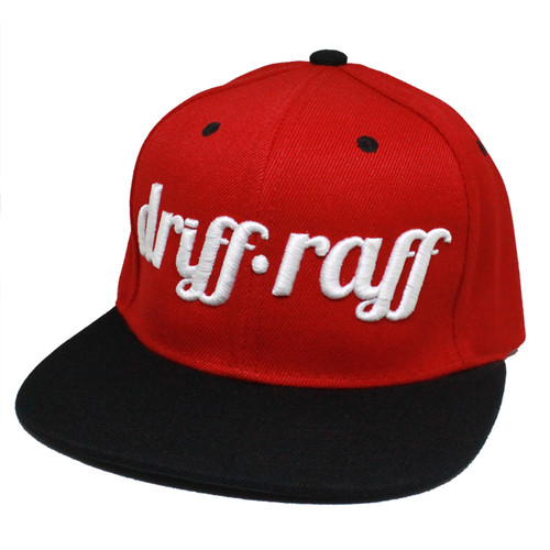 Red and Black Snapback | by Driff•Raff