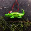 Alligator with Santa's Hat Ornament