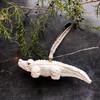 White wooden alligator ornament