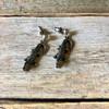 Sterling Silver Alligator Earrings