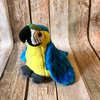 Macaw plush, Blue & Yellow
