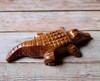 Marble Crocodile Figure