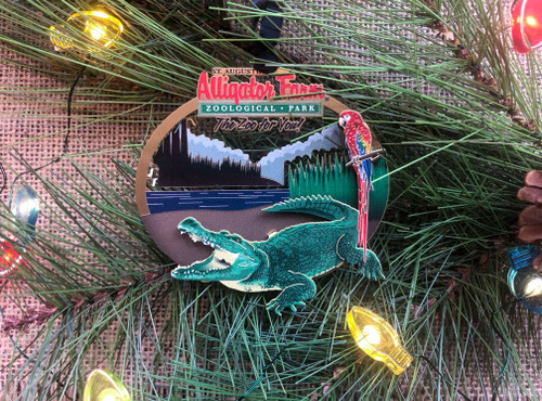 St. Augustine Alligator Farm Christmas Ornament
